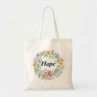 Guirlande d'aquarelle/budget Fourre-tout d'espoir Sac
