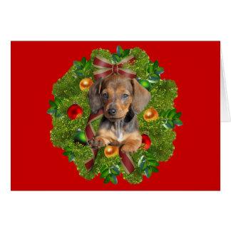 Guirlande de carte de Noël de teckel