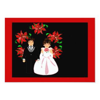 Guirlande de couples de mariage de Noël dans le Faire-part Personnalisé