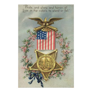Guirlande d'Eagle de médaille de guerre civile des Affiches