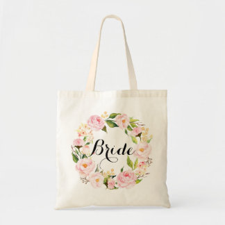 Guirlande florale chic Bride-6 Sacs En Toile