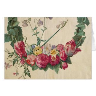 Guirlande florale d'art vintage cartes
