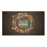 Guirlande florale de toile de jute rustique de cartes de visite professionnelles