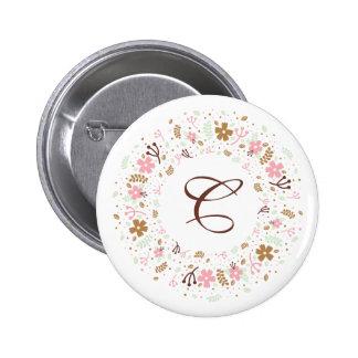 Guirlande florale Girly personnalisée de Badges