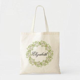 Guirlande florale personnalisée Bridemaids Sac De Toile