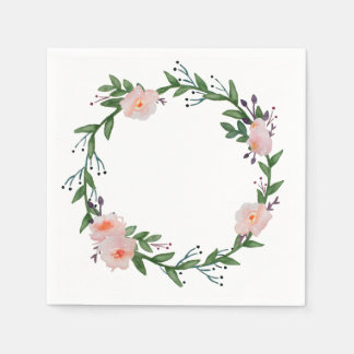 Guirlande florale serviette jetable