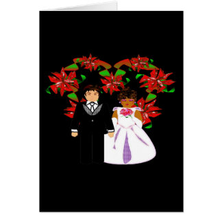 Guirlande interraciale de coeur de couples de cartes