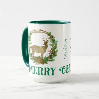 Guirlande personnalisée de Noël de branche de Mug