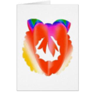 Guirlande rouge rouge de talent de bijou : cartes
