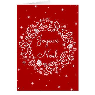 Guirlande vintage de fête de vacances de Joyeux Carte De Vœux