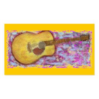 guitare acoustique avec la patine jaune carte de visite standard