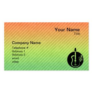 Guitare acoustique carte de visite standard