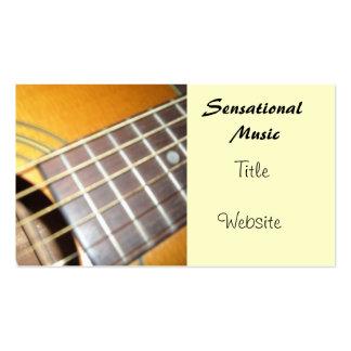 Guitare acoustique carte de visite