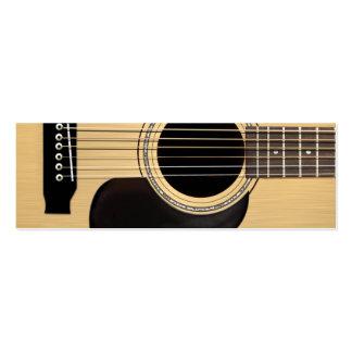 Guitare acoustique carte de visite petit format