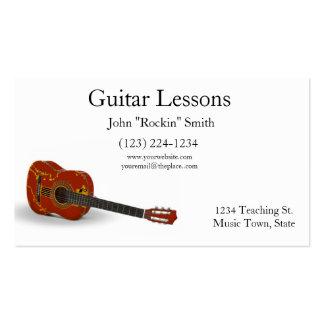 Guitare acoustique de leçons de guitare carte de visite standard