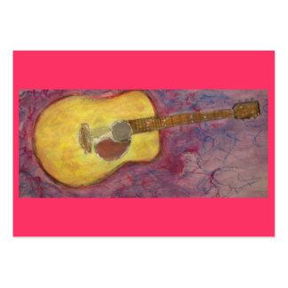 guitare acoustique de patine jaune cartes de visite personnelles