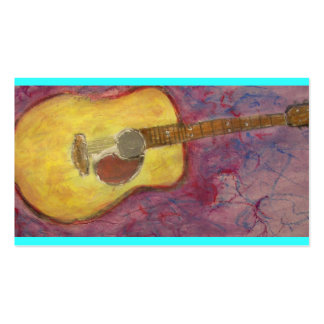 guitare acoustique de patine jaune carte de visite standard