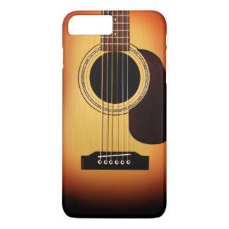 Guitare acoustique de rayon de soleil coque iPhone 7 plus