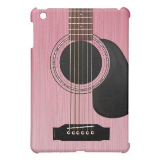 Guitare acoustique de rose de rose étui iPad mini