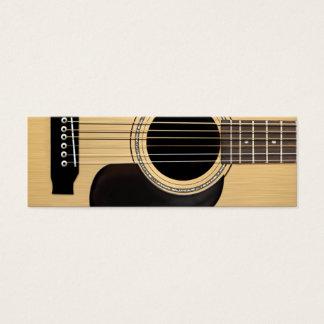 Guitare acoustique mini carte de visite