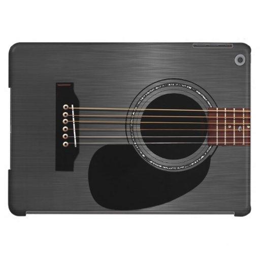 Guitare acoustique noire de cendre