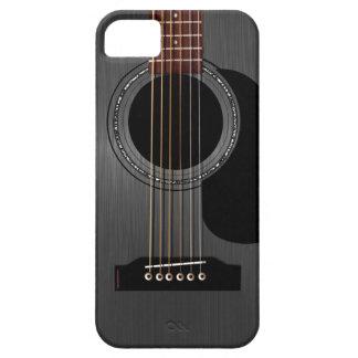 Guitare acoustique noire de cendre étui iPhone 5