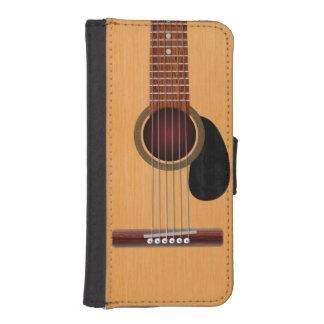 Guitare acoustique coques avec portefeuille pour iPhone 5