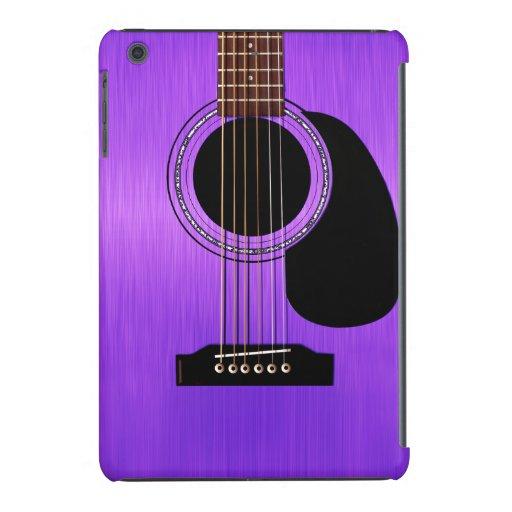 Guitare acoustique pourpre coques iPad mini