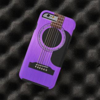 Guitare acoustique pourpre coque iPhone 6 tough