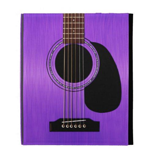 Guitare acoustique pourpre étuis iPad folio