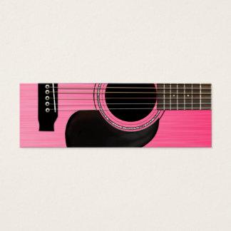 Guitare acoustique rose mini carte de visite