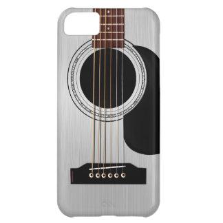 Guitare acoustique supérieure argentée coques iPhone 5C
