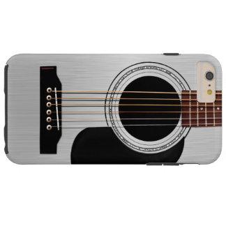 Guitare acoustique supérieure argentée coque iPhone 6 plus tough