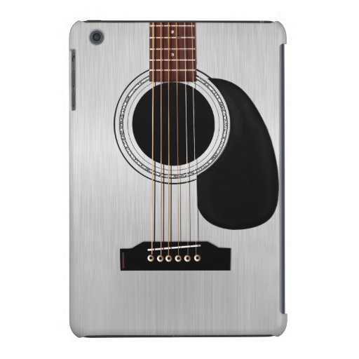 Guitare acoustique supérieure argentée coques iPad mini retina