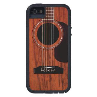 Guitare acoustique supérieure d'acajou étuis iPhone 5
