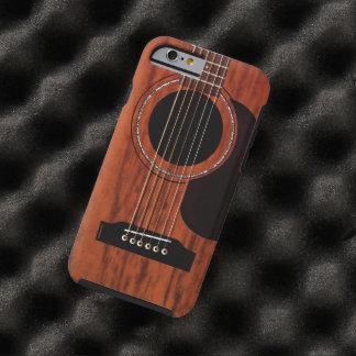 Guitare acoustique supérieure d'acajou coque iPhone 6 tough
