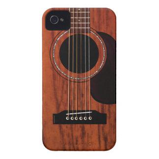 Guitare acoustique supérieure d'acajou coques Case-Mate iPhone 4