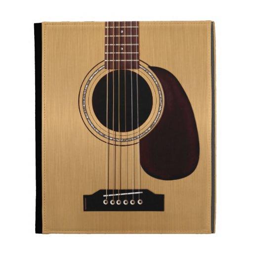 Guitare acoustique supérieure impeccable coques iPad