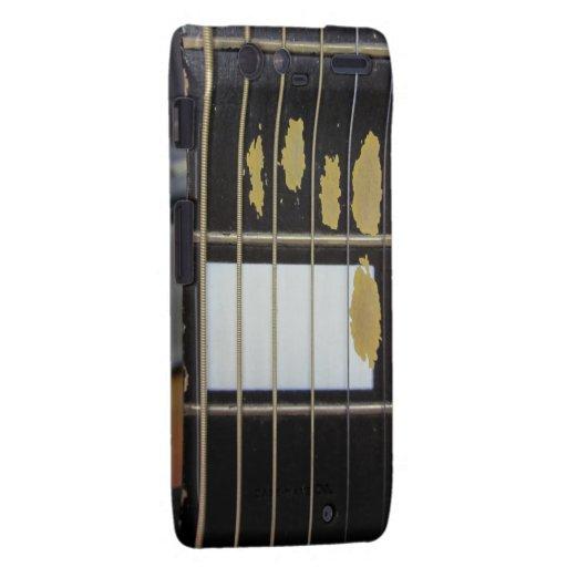 Guitare acoustique vintage coque droid RAZR de motorola