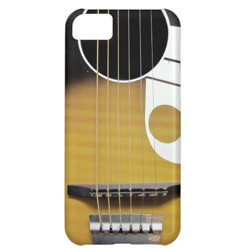 Guitare acoustique vintage étuis iPhone 5C