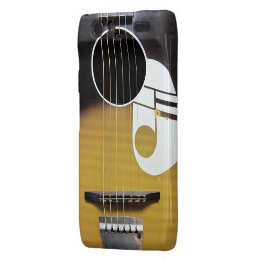 Guitare acoustique vintage étui motorola droid RAZR