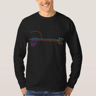 Guitare au néon t-shirt