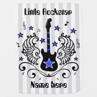 Guitare bleue d'étoile de balancier avec des ailes couvertures pour bébé