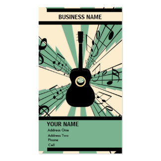 Guitare - carte d industrie musicale carte de visite