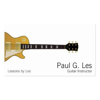 Guitare Modèles De Cartes De Visite