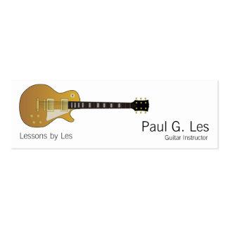 Guitare Carte De Visite Petit Format