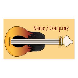 Guitare Carte De Visite Standard