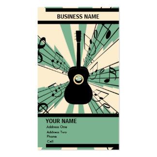 Guitare - carte d'industrie musicale carte de visite standard