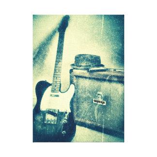 guitare classique avec la toile de bluesman