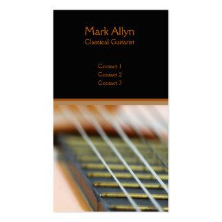 Guitare classique carte de visite standard
